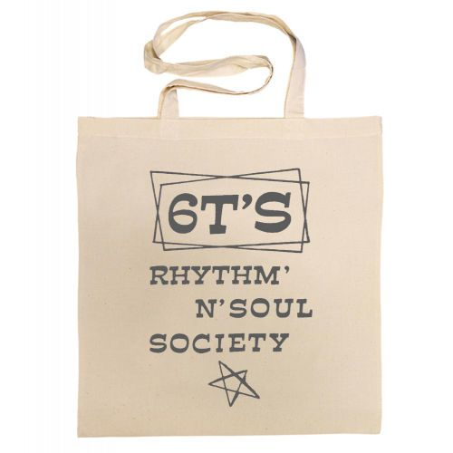 6T's Rhythm 'n' Soul Society Cotton Bag Charcoal [42]