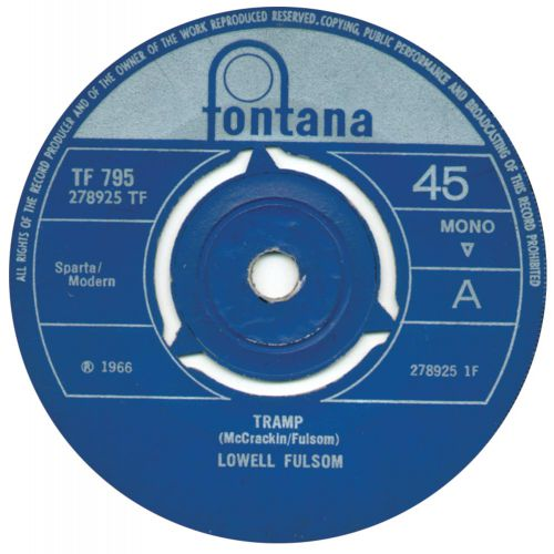 Tramp by Lowell Fulsom single label