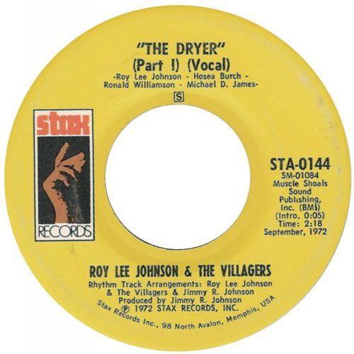 Roy Lee Johnson & The Villagers 'The Drier (part 1) (vocal)'