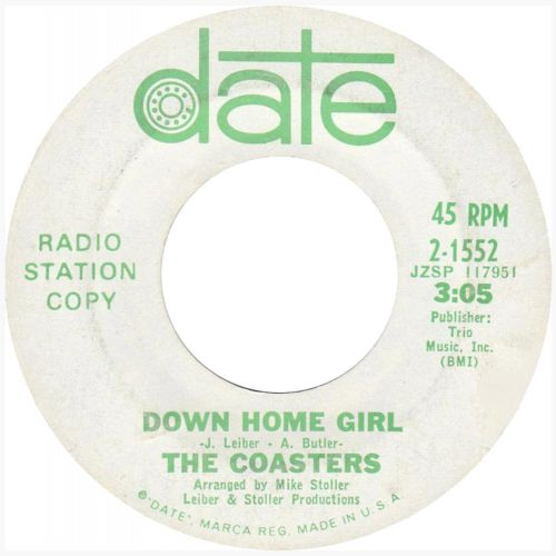 Down Home Girl by The Coasters single label