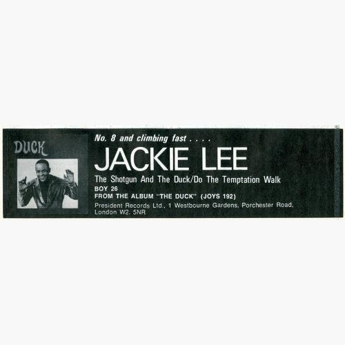 Jackie Lee Chart Entry