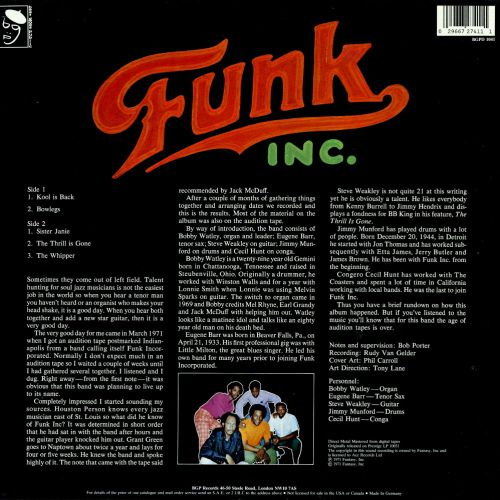 Funk Inc sleeve back