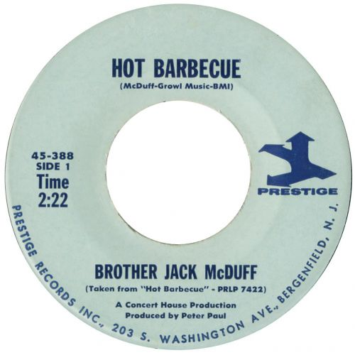 Hot Barbeque single label