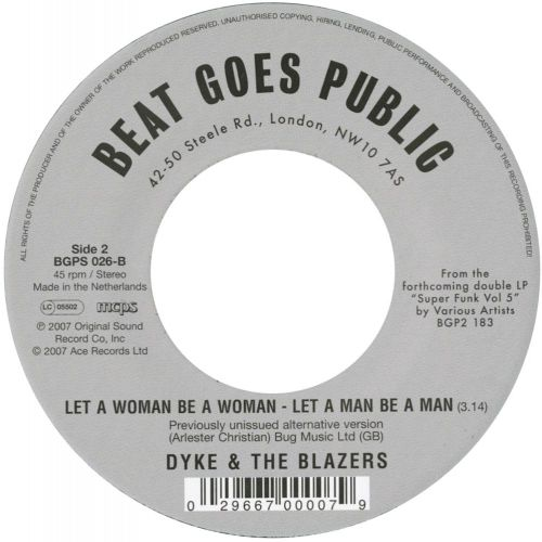 Black Boy/Let A Woman Be A Woman - Let A Man