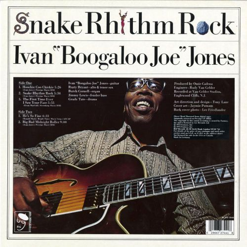 Snake Rhythm Rock LP sleeve back