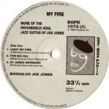 My Fire by Boogaloo Joe Jones LP label