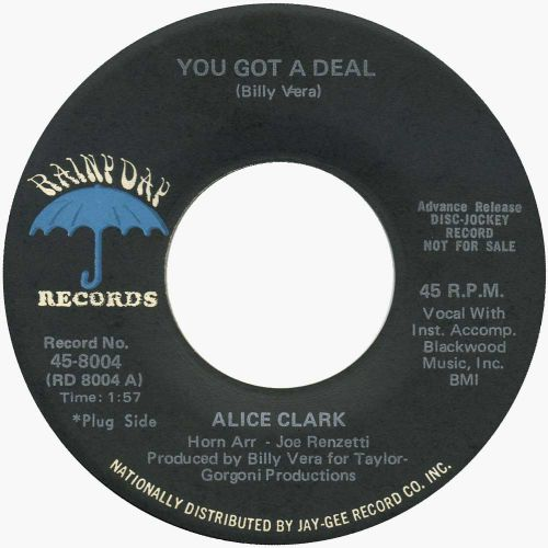 Alice Clark 'You Got A Deal' courtesy of Billy Vera