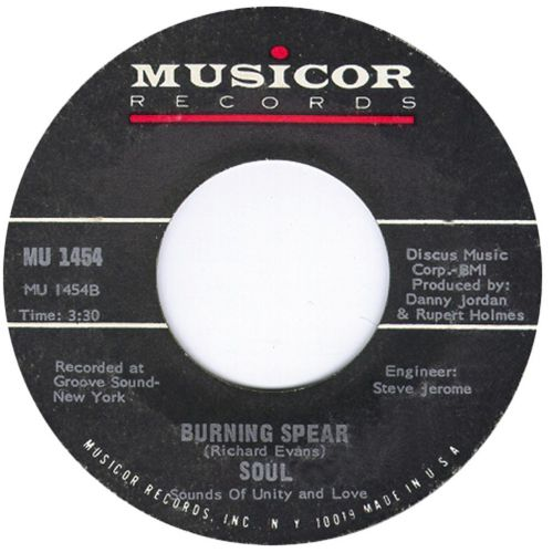 S.O.U.L. 'Burning Spear' courtesy of Dean Rudland