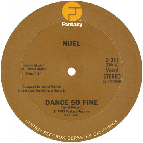Nijel 'Dance So Fine'