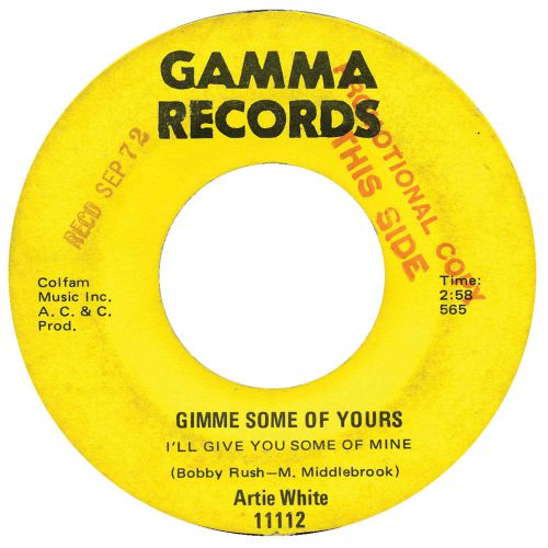 Artie White 'Gimme Some Of Yours (I'll Give You Some Of Mine)'