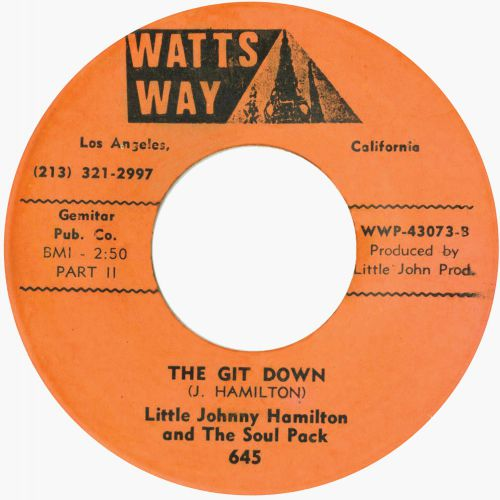 Little Johnny Hamilton & The Soul Pack 'The Git Down (Part 1)'