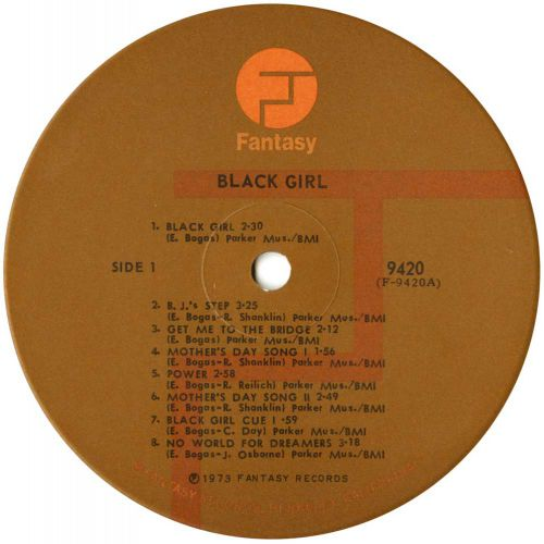 Black Girl Original Sound Track LP label