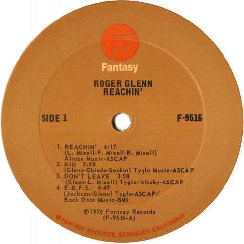 Reachin' LP label courtesy of Dean Rudland