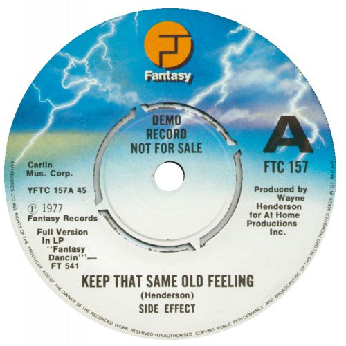 Side Effect 'Keep That Same Old Feeling'