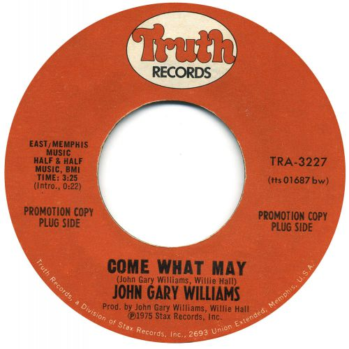 John Gary Williams 'Come What May' courtesy of Paul McKay