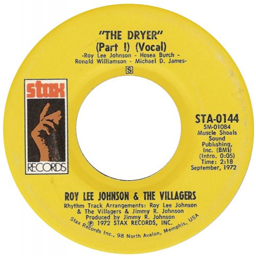 Roy Lee Johnson And The Villagers 'The Dryer Part 1' courtesy of Roger Armstrong