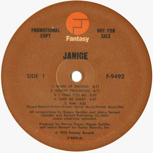 Janice LP label courtesy of Tony Rounce