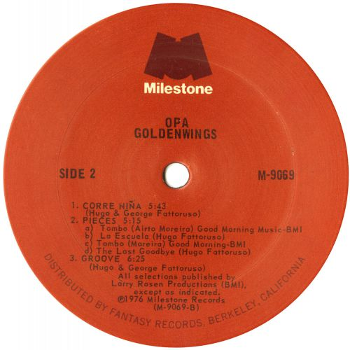 Goldenwings LP label courtesy of Dean Rudland