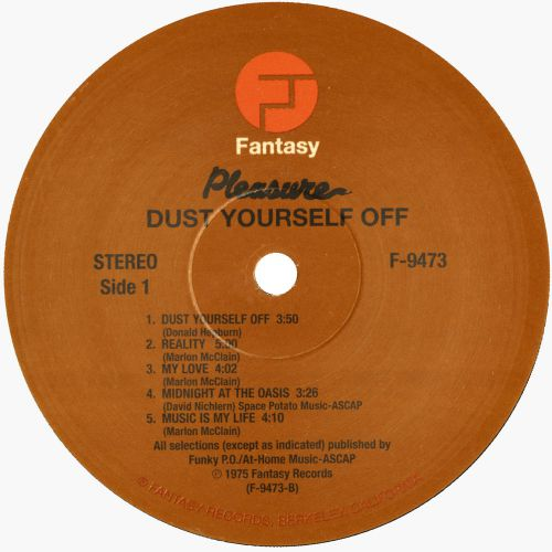 Dust Yourself Off LP label