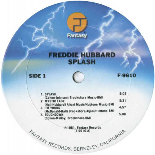 Freddie Hubbard 'Splash' courtesy of Dean Rudland