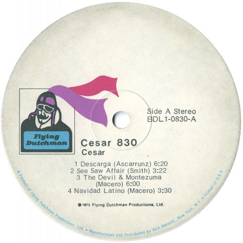 Cesar 830 LP label