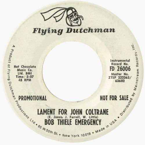 Lament For John Coltrane by Bob Thiele Emergency
