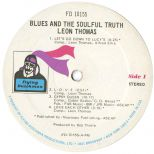 Leon Thomas 'Blues And The Soulful Truth' LP label 1