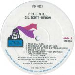 Free Will LP label side 1