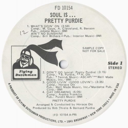 Soul Is LP label side 1