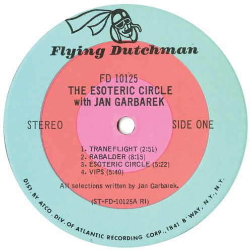 George Russell Presents The Esoteric Circle LP label side 1