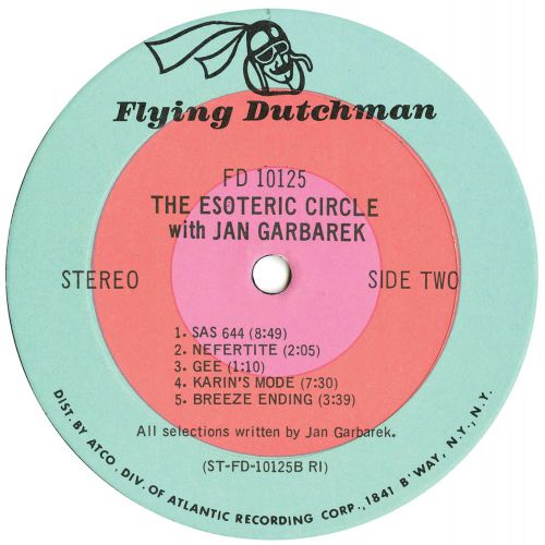 George Russell Presents The Esoteric Circle LP label side 2