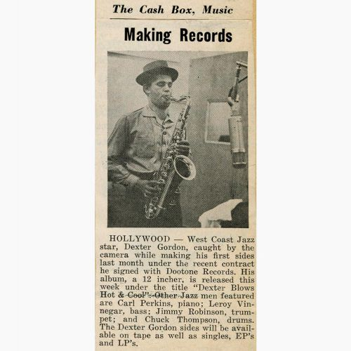 Dexter Gordon press clipping