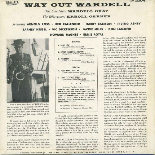 Way Out Wardell LP back cover