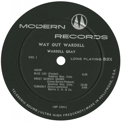 Way Out Wardell LP label side 1