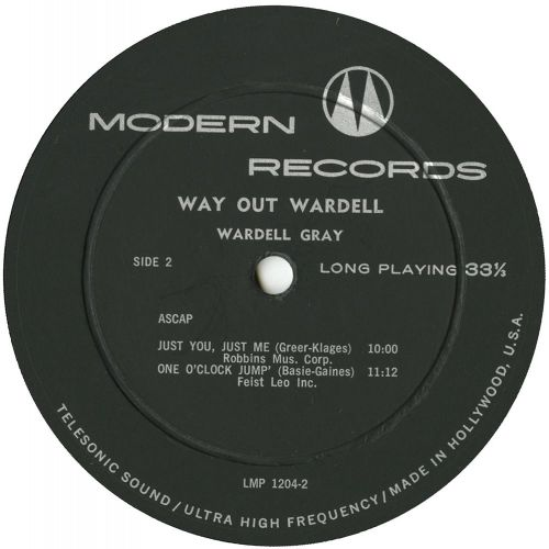 Way Out Wardell LP label side 2