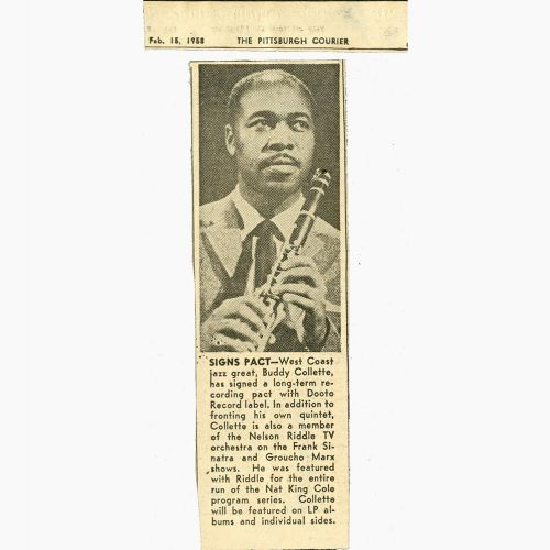 Buddy Collette press clipping