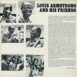 Louis Armstrong And His Friends LP back