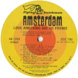 Louis Armstrong And His Friends LP label side 2