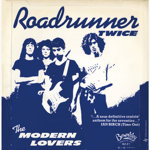 The Modern Lovers 'Roadrunner (Twice)' courtesy of Roger Armstrong