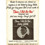 Lenny Welch advert