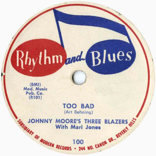 Johnny Moore's Three Blazers 'Too Bad' courtesy of Tony Rounce