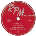 Donna Hightower with Maxwell Davis & Orchestra 'Hands Off'