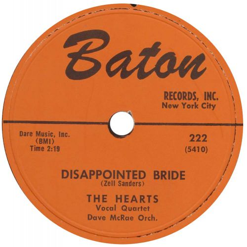 The Hearts 'Disappointed Bride' courtesy of John Clemente