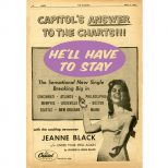 Jeanne Black 'He'll Have To Stay' advert