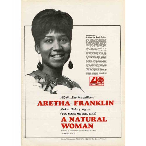 Aretha Franklin '(You Make Me Feel Like) A Natural Woman' advert