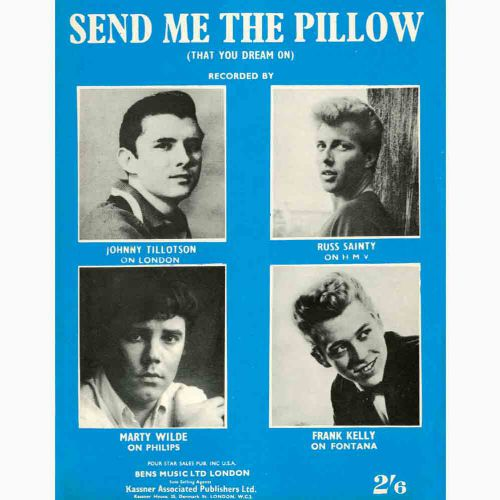 Johnny Tillotson 'Send Me The Pillow You Dream On' advert