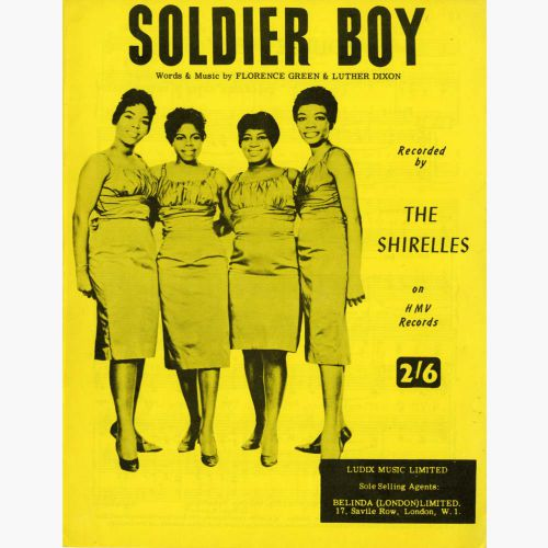 The Shirelles 'Soldier Boy' songsheet courtesy of Roger Stewart