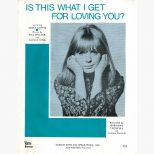 Marianne Faithfull 'Is This What I Get For Loving You' song sheet courtesy of Eric Charge