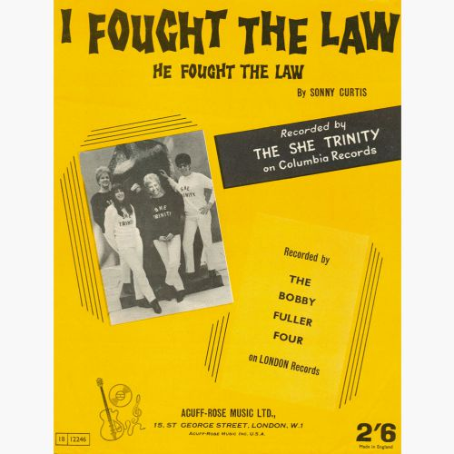 She Trinity 'He Fought The Law' songsheet courtesy of Michael Robson