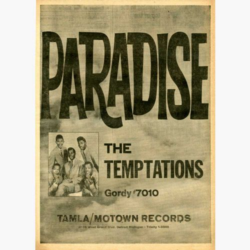 The Temptations 'Paradise' advert